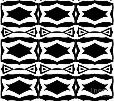 Black and White Pattern Art No.305. by Drinka Mercep