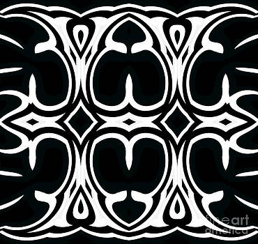 Pattern Black White Geometric Abstract Art No.321. by Drinka Mercep