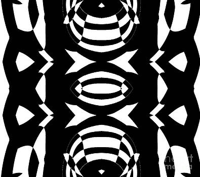 Geometric Art Black White Pattern No.264. by Drinka Mercep