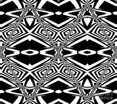 Pattern Black White Geometric Art No.303. by Drinka Mercep
