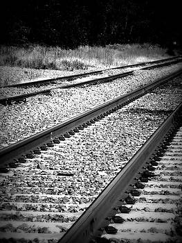 Kimberly Perry - Black and White Railroad Tracks