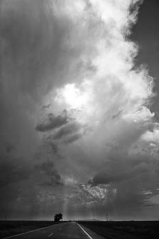 Black and White Tower and Rays by Jennifer Brindley