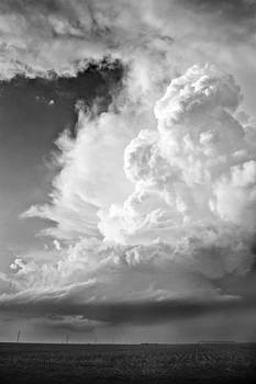Black and White Towering Storm by Jennifer Brindley