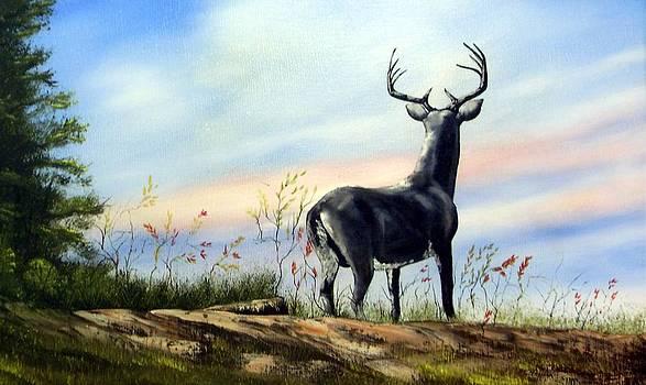 Black Deer by Charles Sims