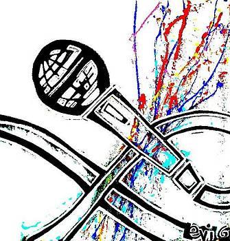 Black Light neon Splash Microphone  by Levi Glassrock