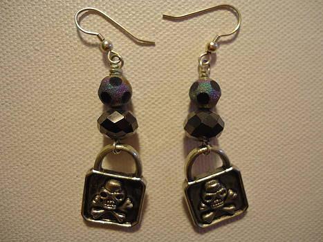 Black Pirate Earrings by Jenna Green