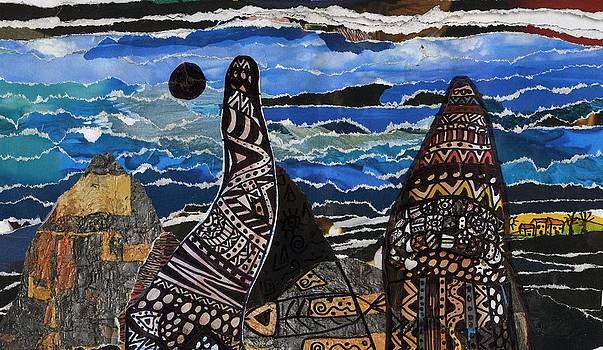Black Sun And A Small Village by Branko Jovanovic