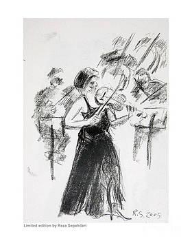 Black Tie Fiddler by Reza Sepahdari