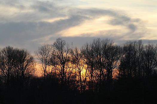 Blazing orange sunset by Ralph Hecht