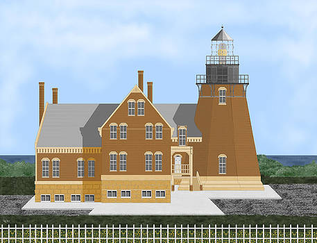 Block Island Lighthouse by Anne V Norskog