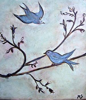 Blubirds For Sylvia by Melynnda Smith