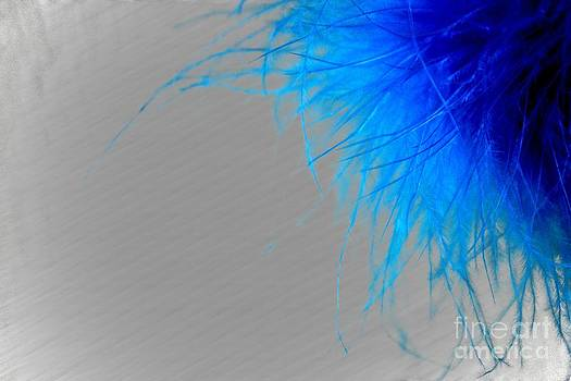 Blue Abstract by Becky Dolley