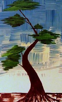Blue Abstract Bonsai Tree by Brad Scott