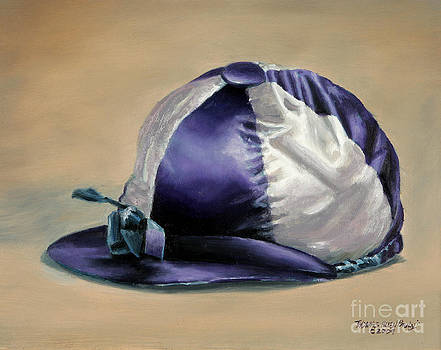 Blue and White Jockey Cap by Thomas Allen Pauly