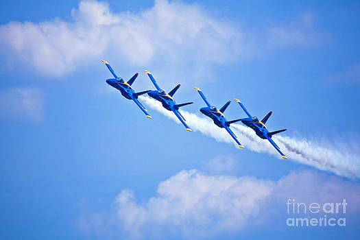 Blue Angels on Flyby by Mark East
