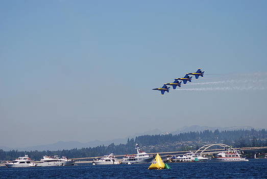 Blue Angels Over Seafair by Michael Merry