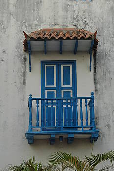Blue Balcony by Kathy Schumann