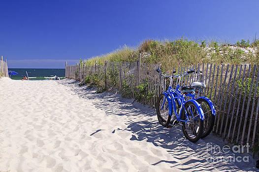 Blue Beach Bikes by Kelly S Andrews