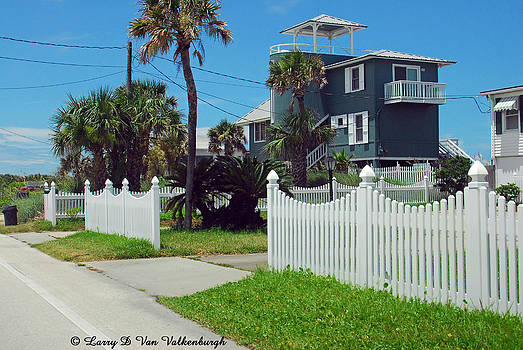 Blue Beach House by Larry Van Valkenburgh