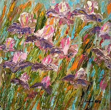 Blue Bearded Irises by Barbara Pirkle