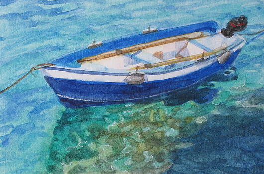 Blue Boat by Yvonne Boone