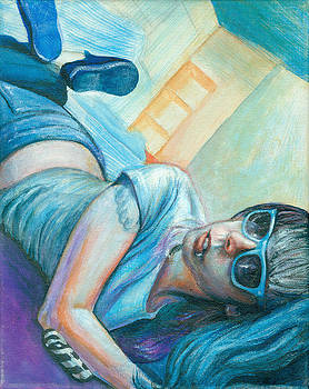 Blue Bowls by Emily Lounsbury