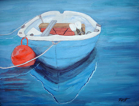 Blue Boy with Red Buoy by Patricia Hooks