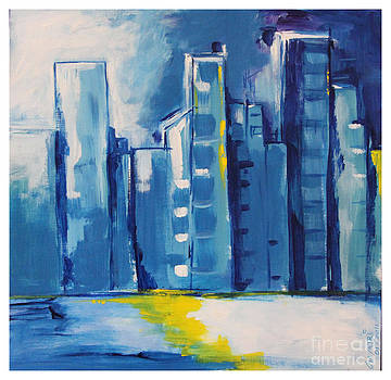 Blue Cityscape by Mantra Y