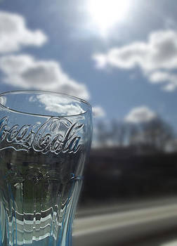 Blue Coca Cola Glass 3 by Robin Hewitt