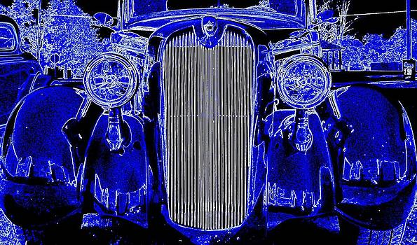 Blue Coupe by J R Seymour