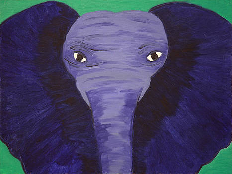 Blue Elephant by Victoria Golden