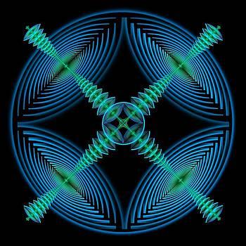 Blue Elliptic mandala by Rick Chapman