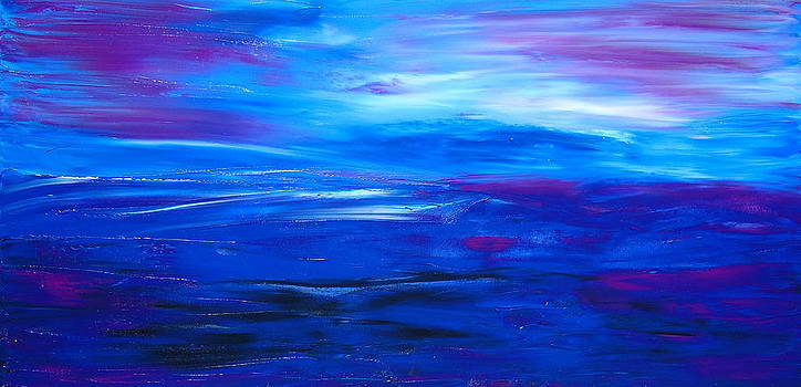Blue Enigma 1 by Portland Art Creations