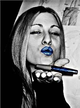 Blue Fea by Elena V