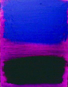 Blue Green On Purple by Harry Johnson