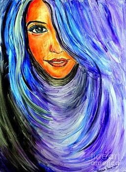 Amanda Dinan - Blue hair