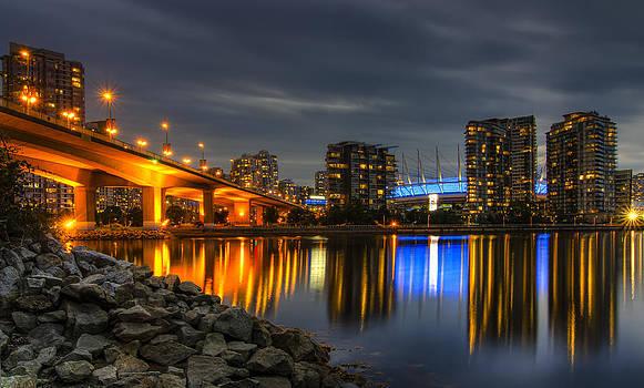 Blue Hour At False Creek by Viktor Lakics
