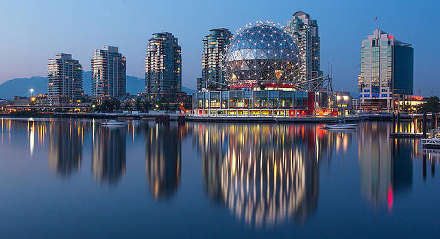 Blue Hour in False Creek by Mirco Millaire