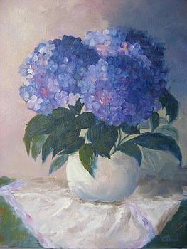 Blue Hydrangeas by Candace Doub