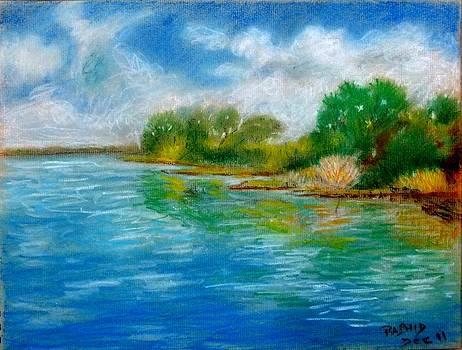 Blue Lake  by Rashid Hamza