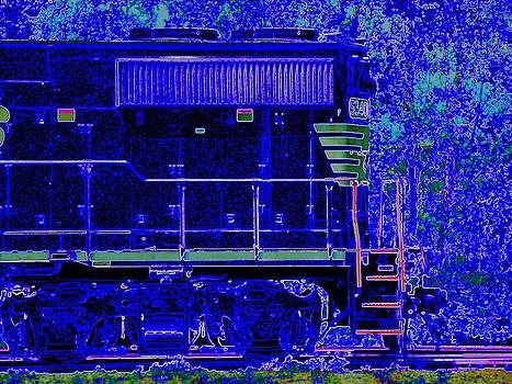 Blue Loco by J R Seymour