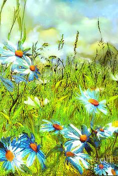 Blue marguerites  by Anne Weirich