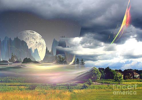 Blue Moon in my Backyard by Heinz G Mielke