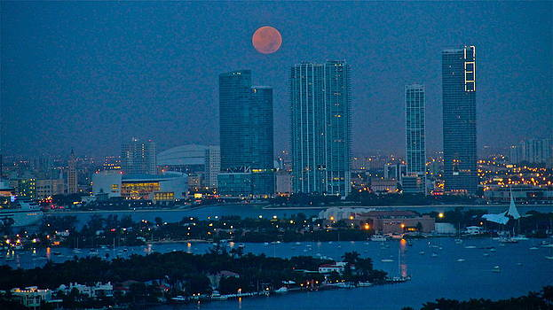 Blue moon over Miami 2 by Ronald  Bell