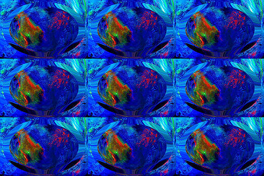Blue Planet - Tiled by Colleen Cannon