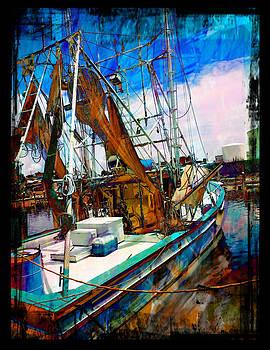 Blue Shrimp Boat by Hope Mastroianni