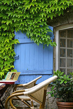 Blue Shutters of Provence by Christine Burdine