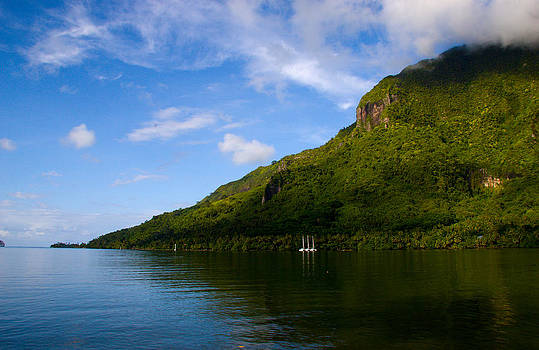 Blue Skies in Moorea by Benjamin Clark