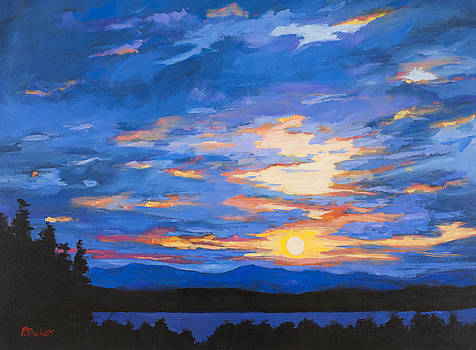 Blue Sky Over Catskill Mountains by Patty Baker