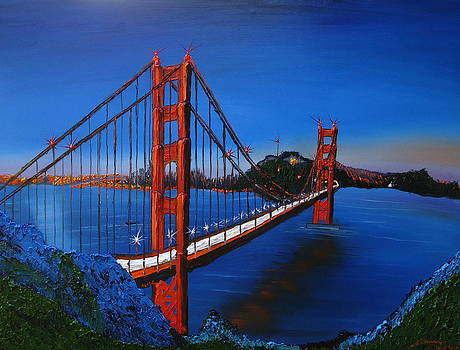 Blue Sky's Of Golden Gate Bridge 7 by Portland Art Creations